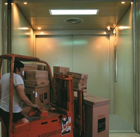 上海阿尔法系列载货电梯利用先进的微电脑控制技术